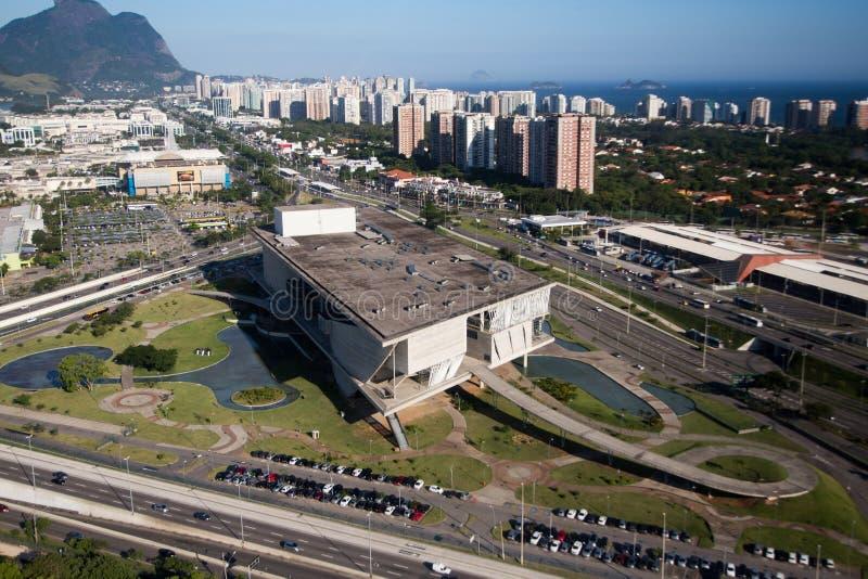 Ciudad de la música, Barra da Tijuca, Rio de Janeiro, visión aérea foto de archivo libre de regalías