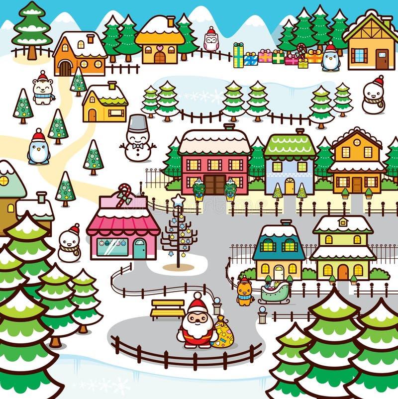 Ciudad de la Navidad imagenes de archivo