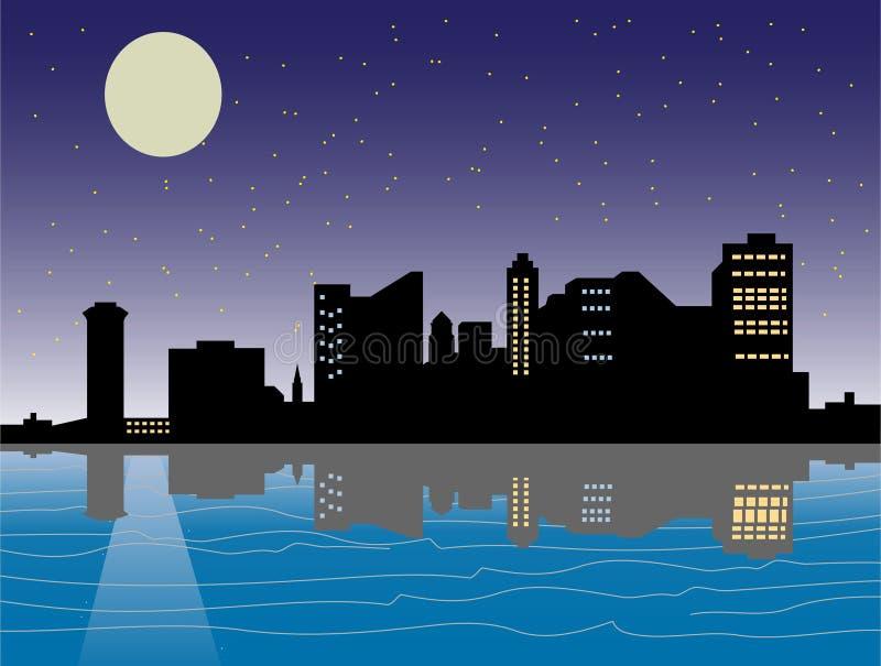 Ciudad de la noche stock de ilustración