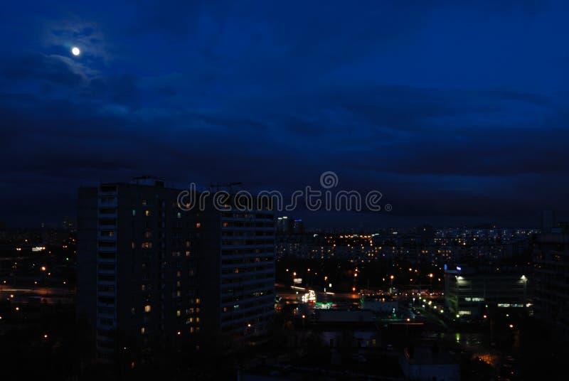 Ciudad de la noche fotografía de archivo