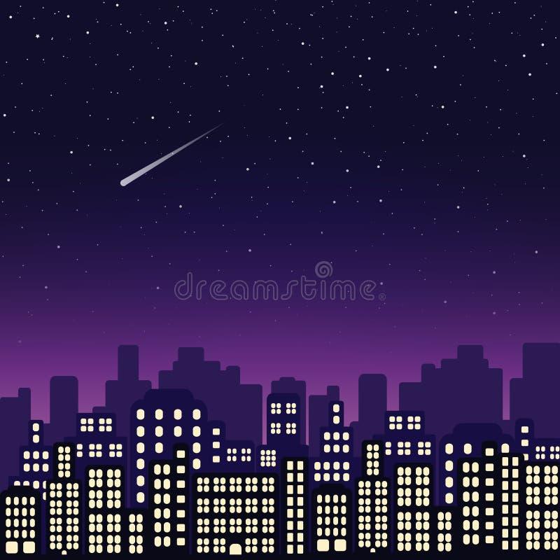 Ciudad de la noche Ilustración del vector stock de ilustración