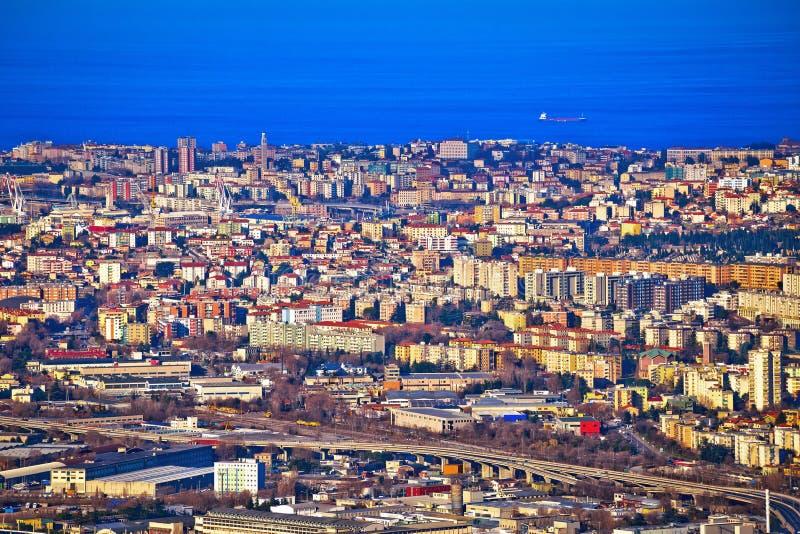 Ciudad de la opinión aérea de Trieste fotografía de archivo libre de regalías