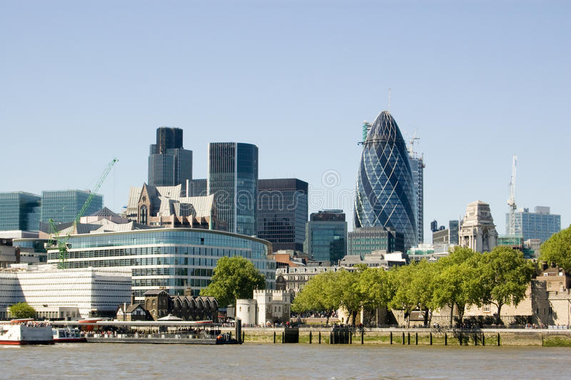 Ciudad de la opinión de Londres foto de archivo