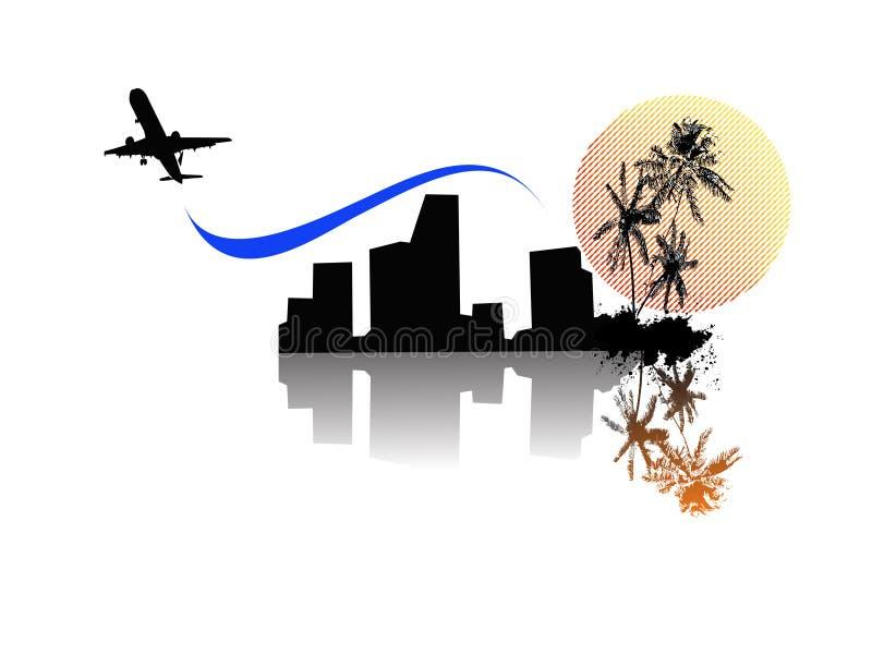 Ciudad de la palma stock de ilustración