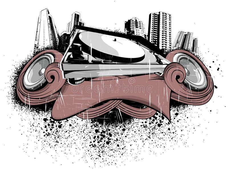 Ciudad de la placa giratoria libre illustration