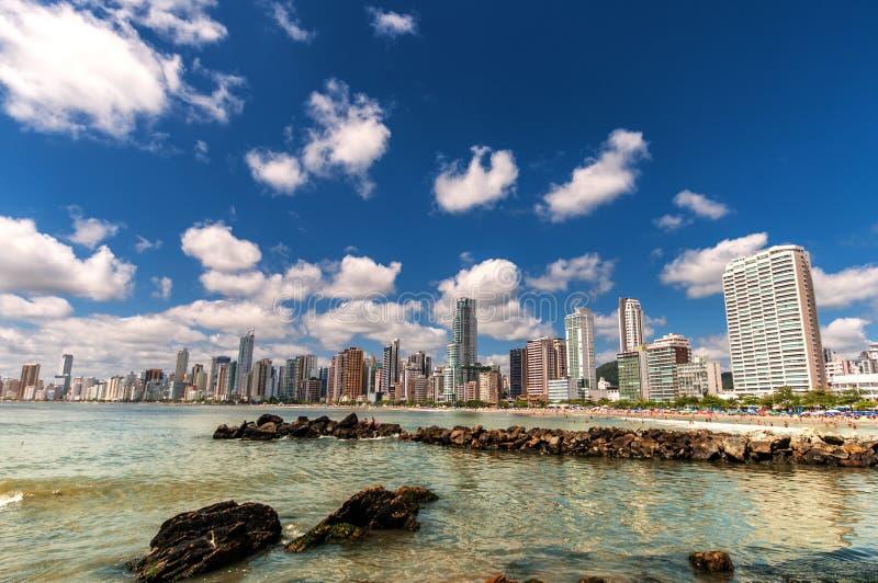 Ciudad de la playa fotografía de archivo