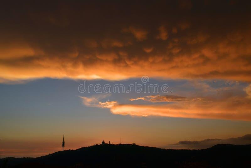 Ciudad de la puesta del sol foto de archivo