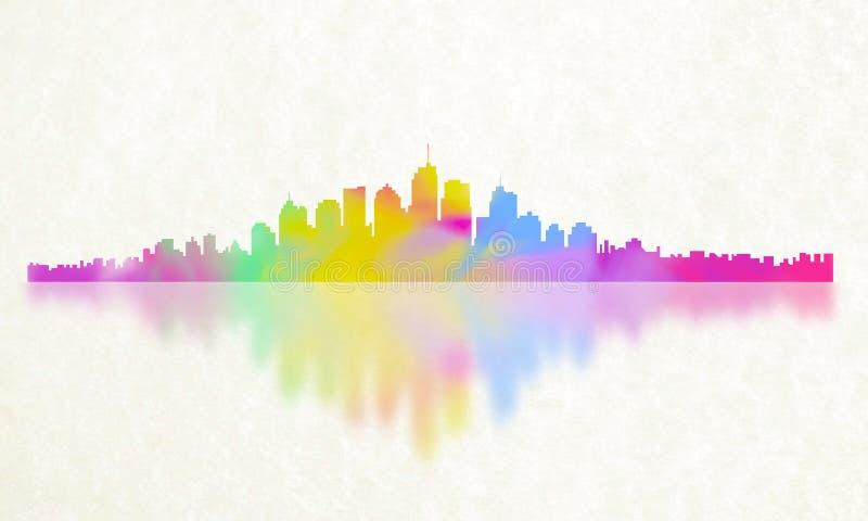 Ciudad de la reflexión del color fotos de archivo