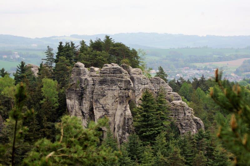 Ciudad de la roca - panorama checo fotos de archivo