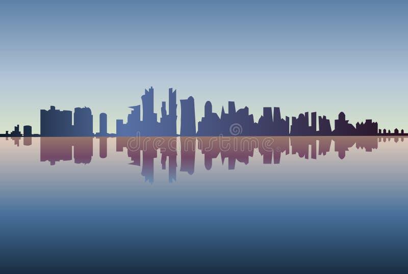 Ciudad de la silueta de Chicago - vector ilustración del vector