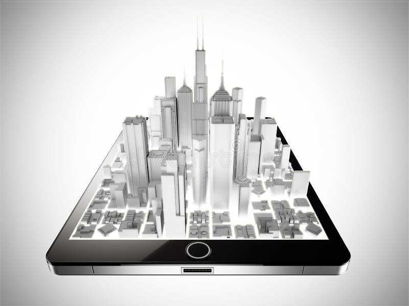 Ciudad de la tableta imágenes de archivo libres de regalías