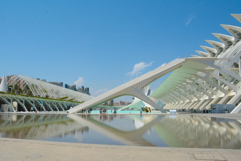 Ciudad de Las Artes y de Las Ciencias lizenzfreies stockbild