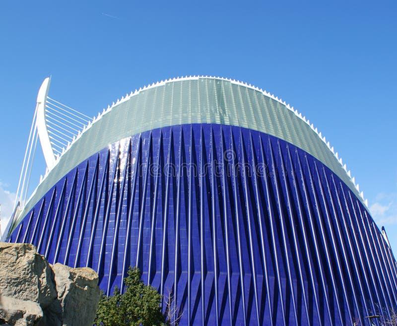 Ciudad de las Artes y las Ciencias de Valencia Stad av konsterna och vetenskaperna av Valencia arkivfoto