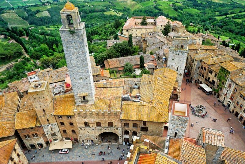 Ciudad de las torres de San Gimignano fotos de archivo