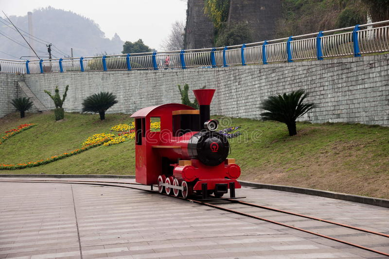 Ciudad de Leshan, Sichuan Qianwei Kayo National Mine Park Plaza fotografía de archivo