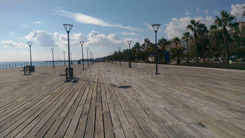 Ciudad de Limassol en Chipre al lado del mar Mediterráneo fotos de archivo