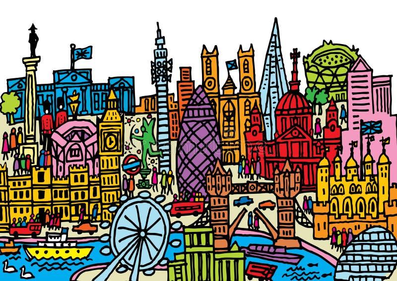Ciudad de Londres stock de ilustración