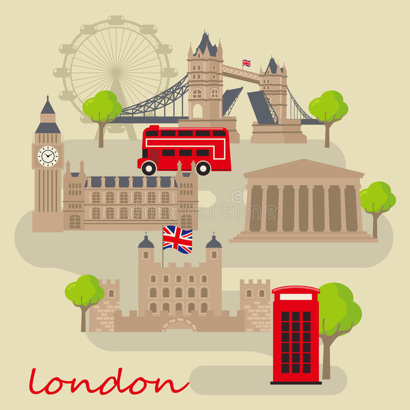 Ciudad de Londres ilustración del vector