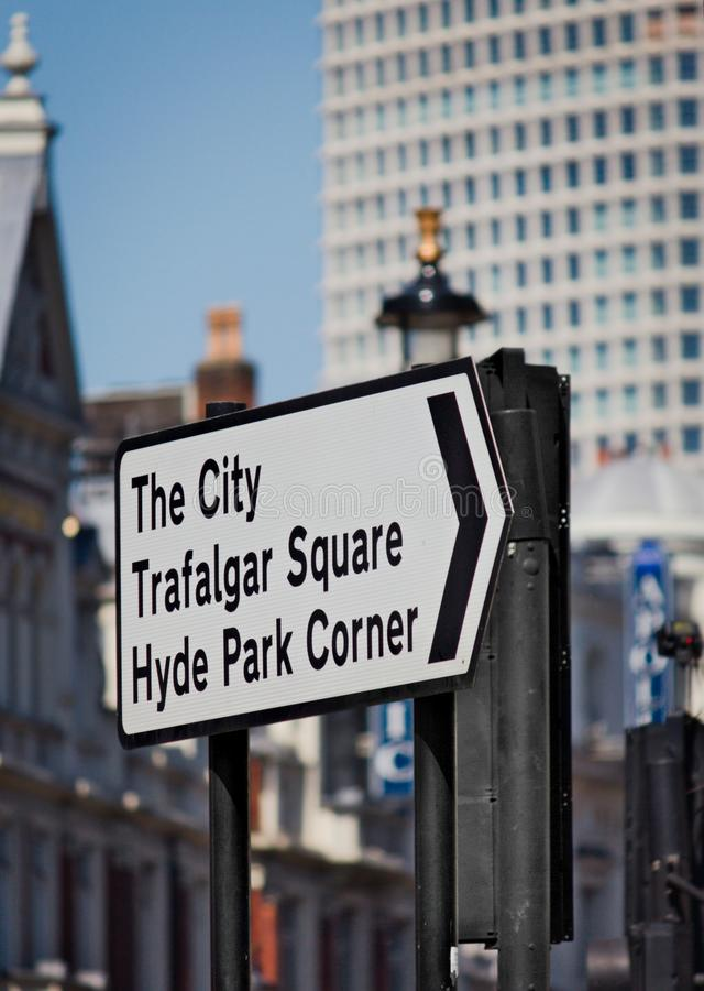 Ciudad de Londres - señal de tráfico - I - fotos de archivo libres de regalías