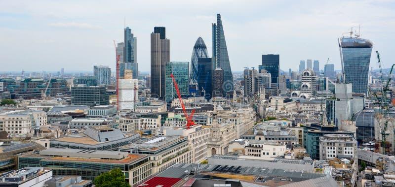 Ciudad de Londres uno de los centros principales de las finanzas globales imágenes de archivo libres de regalías