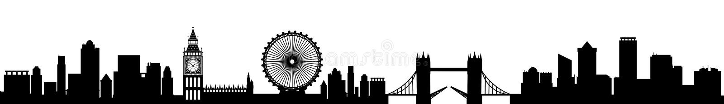 Ciudad de Londres - vector común ilustración del vector