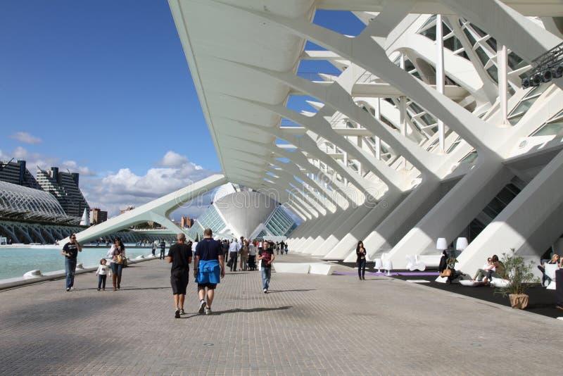 Ciudad de los artes y de las ciencias Valencia abierta imágenes de archivo libres de regalías