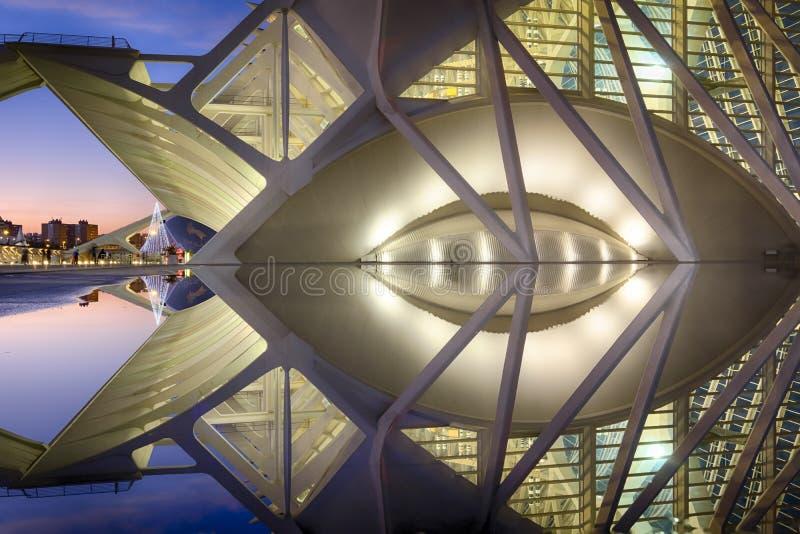 Ciudad de los artes y de las ciencias Valencia, España imagen de archivo libre de regalías