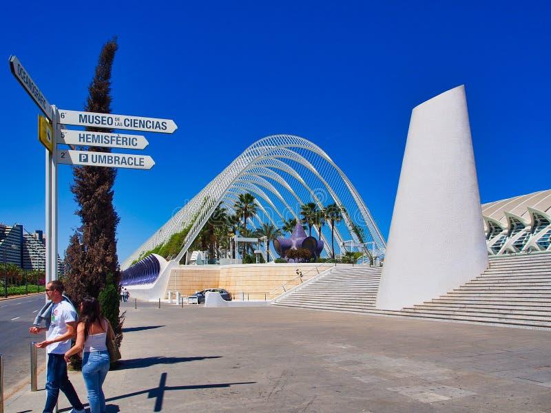 Ciudad de los artes y de las ciencias, Valencia, España foto de archivo