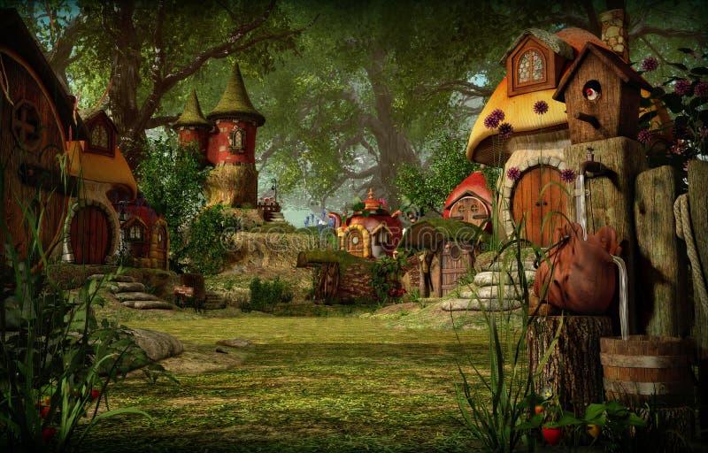 Ciudad de los duendes, 3d CG libre illustration