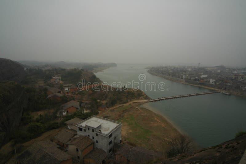 Ciudad de los riverbanks-Hekou imagen de archivo