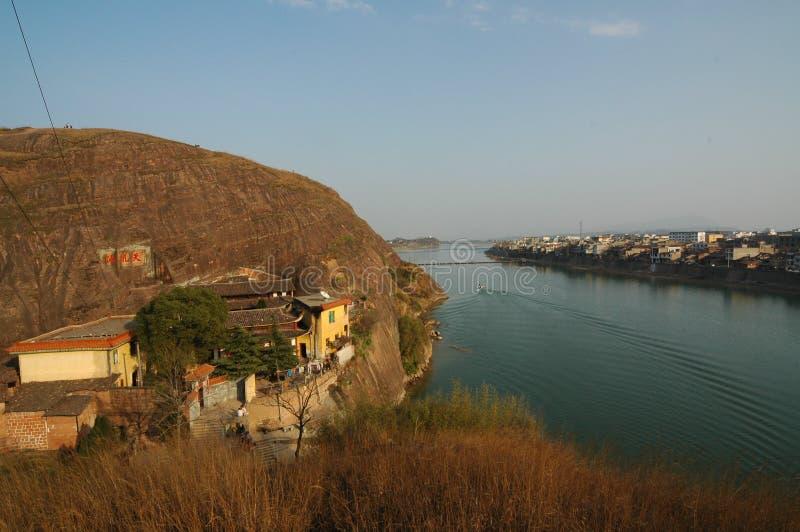 Ciudad de los riverbanks-Hekou imagenes de archivo