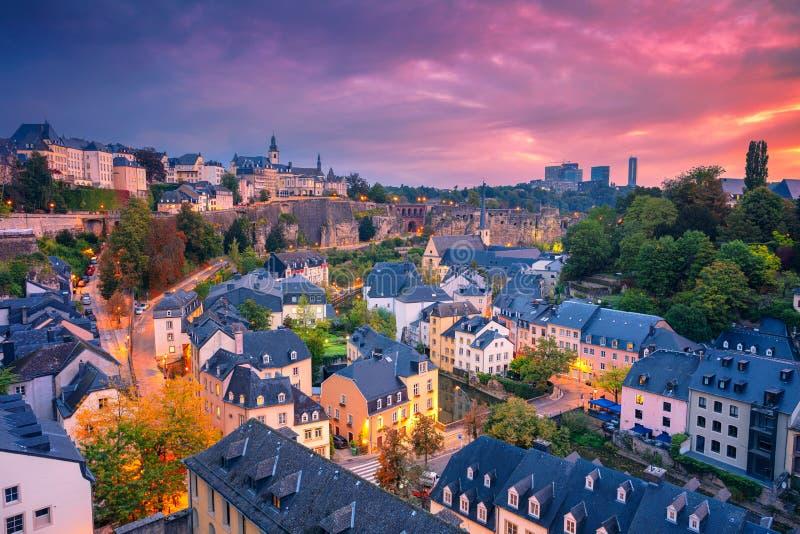 Ciudad de Luxemburgo, Luxemburgo foto de archivo libre de regalías