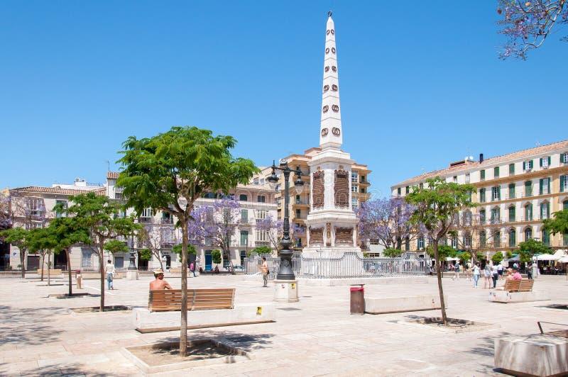 Ciudad de Málaga, España imagenes de archivo