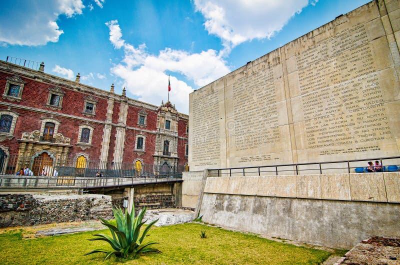 Ciudad de México, México - 12 de abril de 2012 Museo del alcalde de Templo foto de archivo libre de regalías
