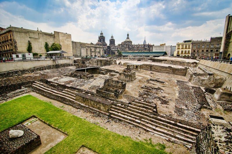 Ciudad de México, México - 12 de abril de 2012 Museo del alcalde de Templo fotografía de archivo