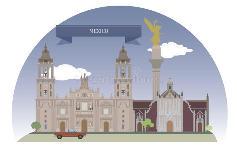 Ciudad de México, México ilustración del vector