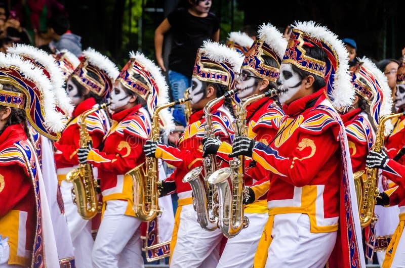 Ciudad de M?xico, M?xico - 27 de octubre de 2018 Celebraci?n del d?a de desfile muerto foto de archivo