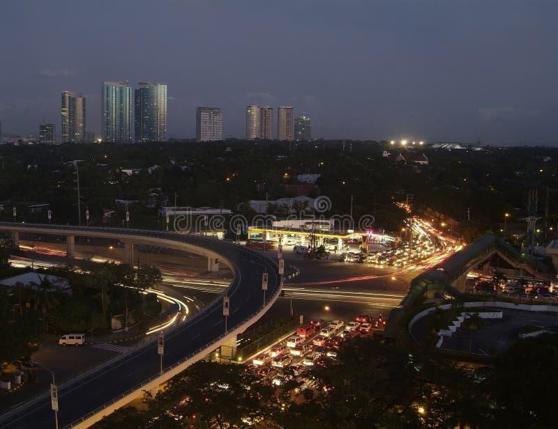 Ciudad de Makati, Filipinas imagen de archivo