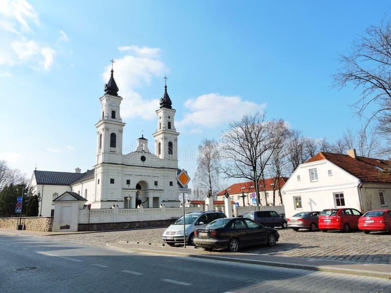 Ciudad de Marijampole, Lituania foto de archivo