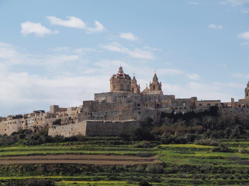 Ciudad de Mdina, Malta fotografía de archivo libre de regalías