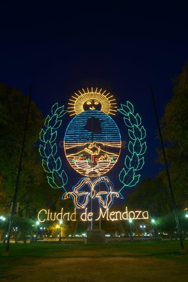 Download Ciudad de Mendoza stock photo. Image of night, america - 32593930