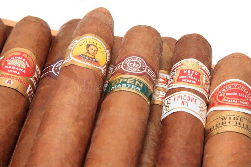 Cuban Cigars Brands royalty free stock photos