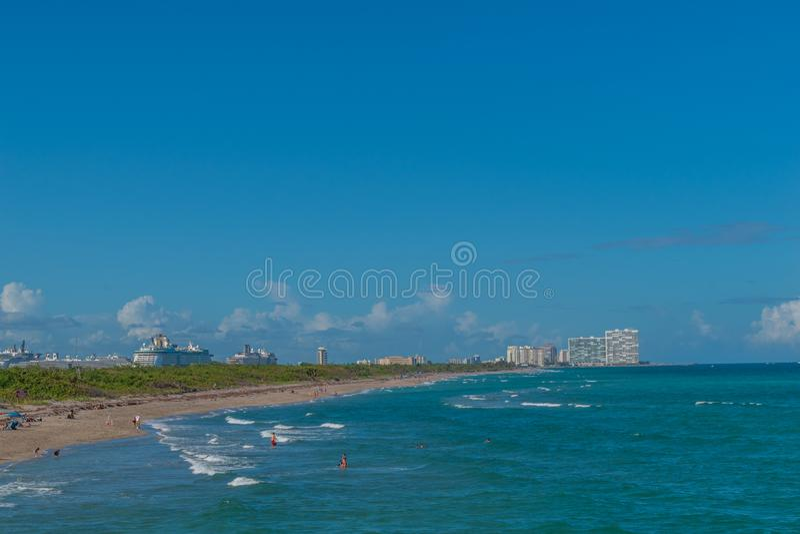 Ciudad de Miami foto de archivo libre de regalías