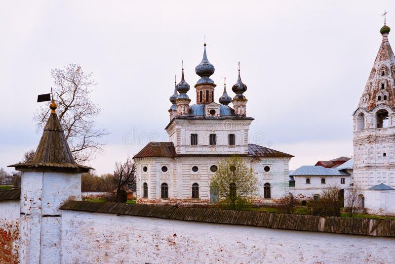 Ciudad de Michael Monastery Yuryev Polsky del arcángel en el oblast de Vladimir, Rusia imágenes de archivo libres de regalías