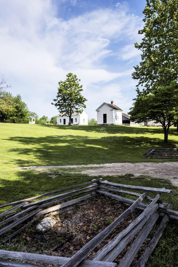 Ciudad 1855 de Missouri imagenes de archivo