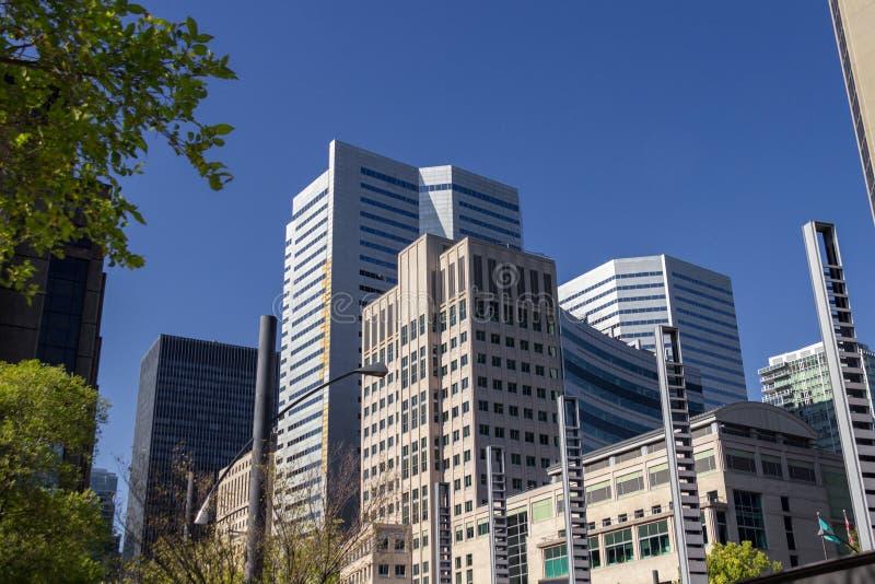Ciudad de Montreal en Canadá imagen de archivo libre de regalías