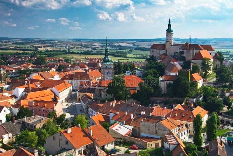 Ciudad de Moravian fotografía de archivo