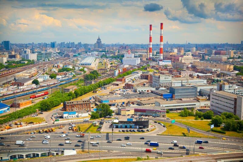 Ciudad de Moscú Zona industrial imagen de archivo libre de regalías