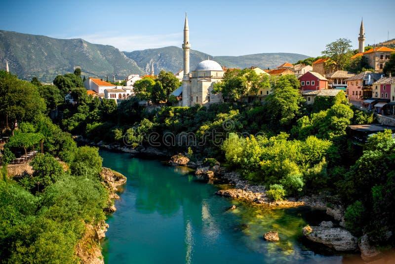 Ciudad de Mostar imagen de archivo