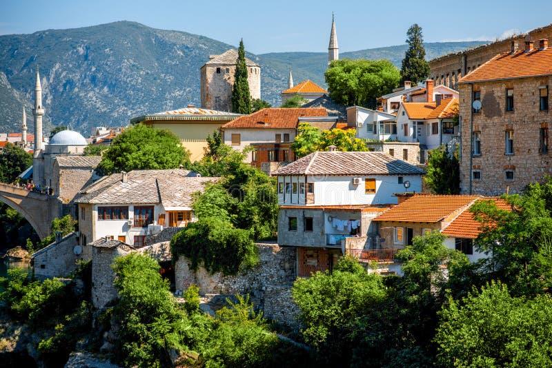 Ciudad de Mostar imagen de archivo libre de regalías